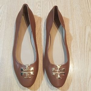 Tory Burch Raleigh Royal Tan Patent Leather